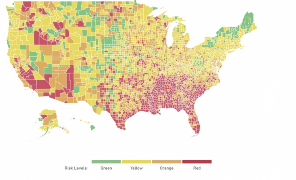 Comparative Risk by US County